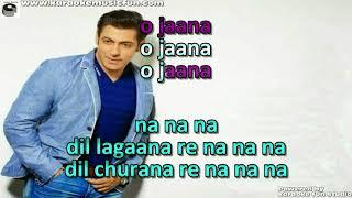 O Jaana Tere Naam Semi Vocal Female Video Karaoke Lyrics