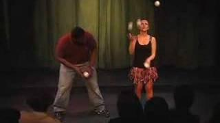 Comedy/Juggling show highlights FEMALE JUGGLER
