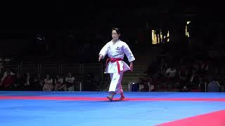 Kiyou Shimizu vs Sandra Sanchez_final female kata_(Karate Series A Salzburg 2019)