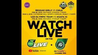 JFF Senior Reggae Girlz VS Chile National Women's Team