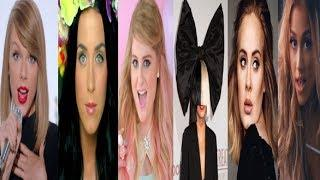 Most Viewed Songs by Six Female Artists ( Studio Vs Live )