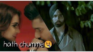 hath chumme female version whatsapp status | lyrical video | ammy virk