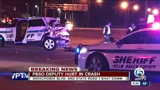 Female PBSO deputy injured in Royal Palm Beach wreck