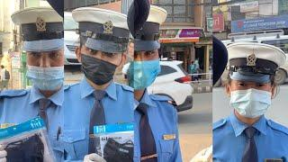 We gave away metro masks to Female traffic officers in Kathmandu.