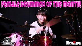 Female Drummer of  the Month! 11 Year Old Japanese  Sensation Mana Fukuda Rocks out!