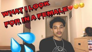 "MY FIRST YOUTUBE VIDEO: Q&A ""What I look for in a female"""