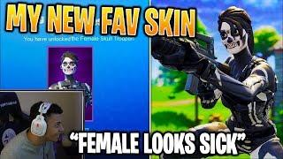 Myth REACTS To FEMALE Skull Trooper COME BACK! (SKULL RANGER)
