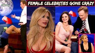 Conan O'Brien - Female Celebrities Gone Crazy | Hilarious Moments