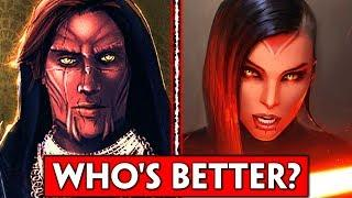 Who's The Better Voice Actor: MALE VS FEMALE Sith Warrior (SWTOR)