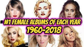 #1 BIGGEST FEMALE ALBUMS OF EACH YEAR | 1960 - 2018
