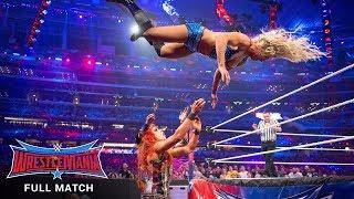 FULL MATCH - Flair vs. Banks vs. Lynch - WWE Women's Title Triple Threat Match: WrestleMania 32