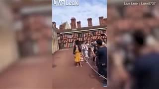 Out of my way! Guardsman pushes female tourist in Windsor
