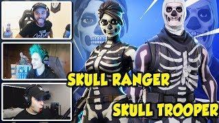 Ninja Hamlinz & Other Streamers React To New SKULL TROOPER & SKULL RANGER Fortnite Skins