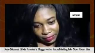KWADWO NKANSAH (LIL WIN) ARRESTS FEMALE BLOGGER OVER FAKE TRENDING STORY ABOUT HIM