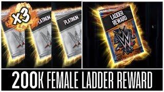 HAPPY NEW YEAR!! 3x TEAM BATTLEGROUND PACK OPENING & 200K FEMALE LADDER REWARD | WWE SuperCard
