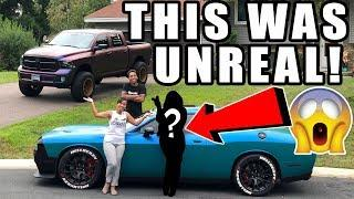 YOU'LL NEVER BELIEVE WHICH *FEMALE CELEBRITY* JUST DROVE MY HELLCAT!!