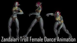 Zandalari Troll Female Dance Animation