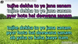 Tujhe Dekha To Ye Jana Sanam Semi Vocal Female Video Karaoke With Lyrics