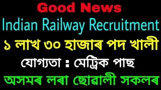 RRB Group D 1.3 lakh vacancy || Official Notification out || Male And Female Apple Now By Govt Job