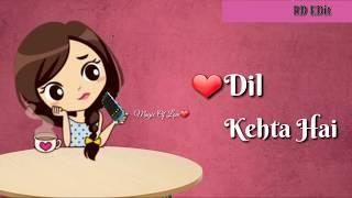 Dil kehta  hai ????female version WhatsApp status video