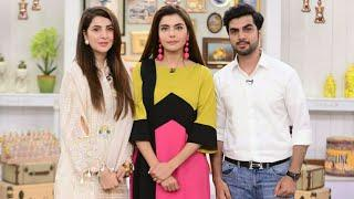 Areeba Habib with her Sibling at Nida Yasir Morning Show GMP | Female Celebrities with Siblings