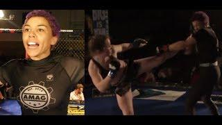 Cocky Female Fighter Gets Humbled in the Cage!!