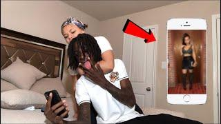 ANOTHER GIRL AS MY LOCK SCREEN PRANK ON GIRLFRIEND!!!
