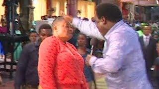 "Watch T.B. Joshua CAST OUT ""A Woman"" Living Inside A Woman!!!"