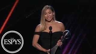 Chloe Kim wins Best Female Athlete award | 2018 ESPYS | ESPN