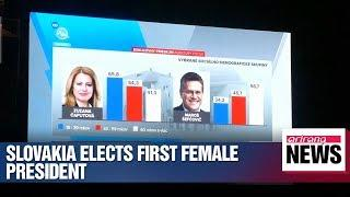 First female president elected in Slovakia