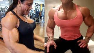 Extreme Level Muscles Girl | Elaine Christina aka Laine Costa Female Bodybuilder