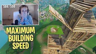 Fortnite RA - Best Female Player Show Maximum Building Speed!! Better Than Loeya?