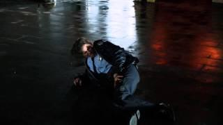 Female cop gets shot in legs and chest (from Gotham tv-series)
