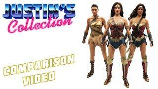 Hot Toys Justice League Wonder Woman Comparison Video