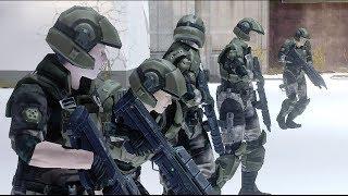 Halo 3 AI Battle - Female Marines vs Female Marines