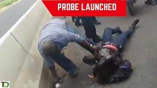 Probe launched into Video of Cop body slamming Female Motorcyclist | Teach dem