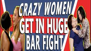 MGTOW.  Huge Female Bar Fight Gets Out Of Control And The MEN Can't Stop It