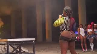 Jamaican female dancer Head Top goes all out for her bag