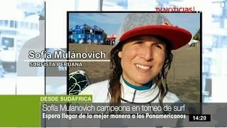 """Sofía Mulánovich campeona en torneo de surf """"Ballito Pro Women's"""""""