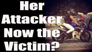 Road-rager Attacks 23 Year Old Female Biker/Now He's the Victim