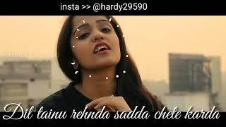 Khaab female virson punjabi song whatsapp status Video with lyrics