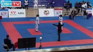 Ishiai Fumika (JPN) Vs Sabrina (FRA) - Kumite -55 Kg Female WKF Series A Shanghai