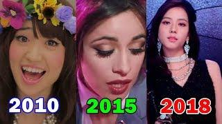 Top 3 Most Viewed Music Videos Each Year By Female Groups (2010-2018)