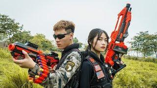 Banana TV : Female Captain Ultimate Squad Skill Nerf Guns Fight High-tech Crime NERF WAR